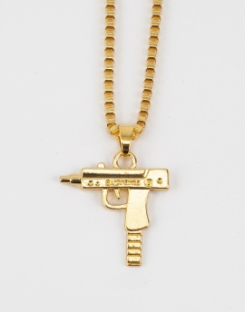 Gold Uzi Hip Hop Kolye FT1132AL