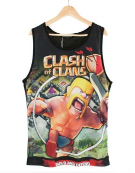 Clash Of Clans Full Print Erkek Top Tank Atlet CC005