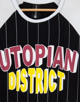 Utopian District Reglan Erkek Tişört Y86SY