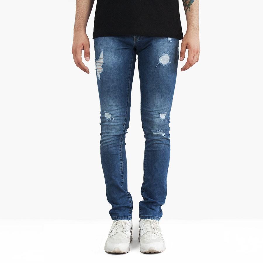 cce8b0122f6d5 PANTOLON - Zara - Zara Yırtık Skinny Erkek Kot Pantolon Jean 3496 Mavi